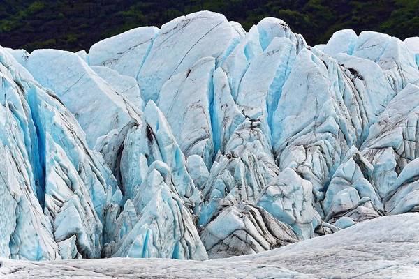Photograph - Glacial Ice - Matanuska by KJ Swan
