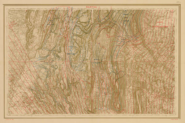 1875 Digital Art - Glacial Map Of Nantua 1875 by Historic Map Works Llc