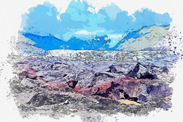 Painting - Glacier, Alaska -  Watercolor By Adam Asar by Adam Asar