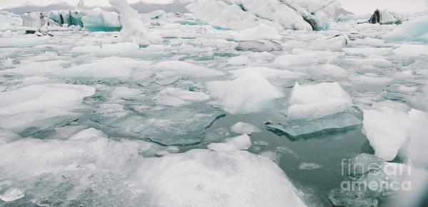 Photograph - Glacier Lake Full Of Large Blocks Of Ice. by Joaquin Corbalan