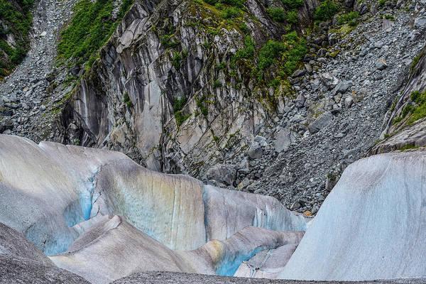 Wall Art - Photograph - Glacier Leaving Scars On A Mountain  by Edward Garey