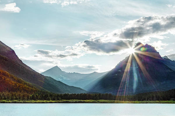 Photograph - Glacier National Park Sunset by Kay Brewer