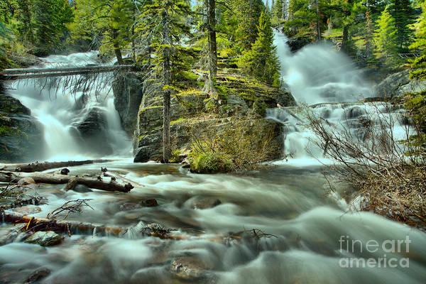Wall Art - Photograph - Glacier Park Twin Falls by Adam Jewell