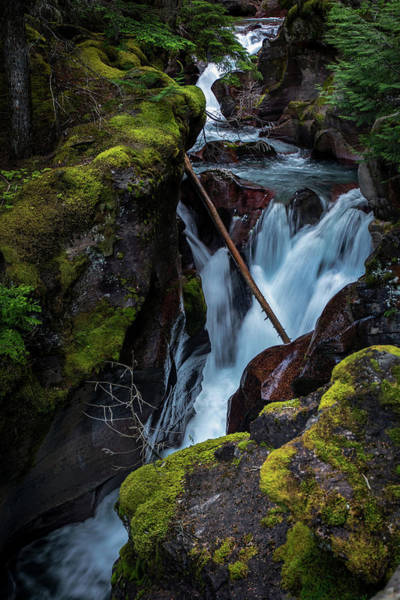 Photograph - Glacier Waterfall 2  by Harriet Feagin