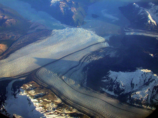 Photograph - Glaciers Converge by Mark Duehmig