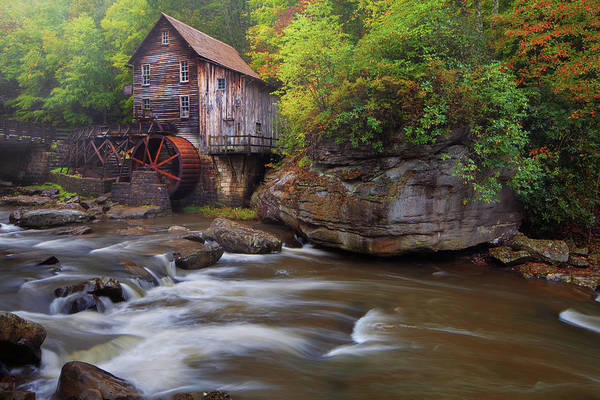 Photograph - Glade Creek Grist Mill by Dennis Sprinkle