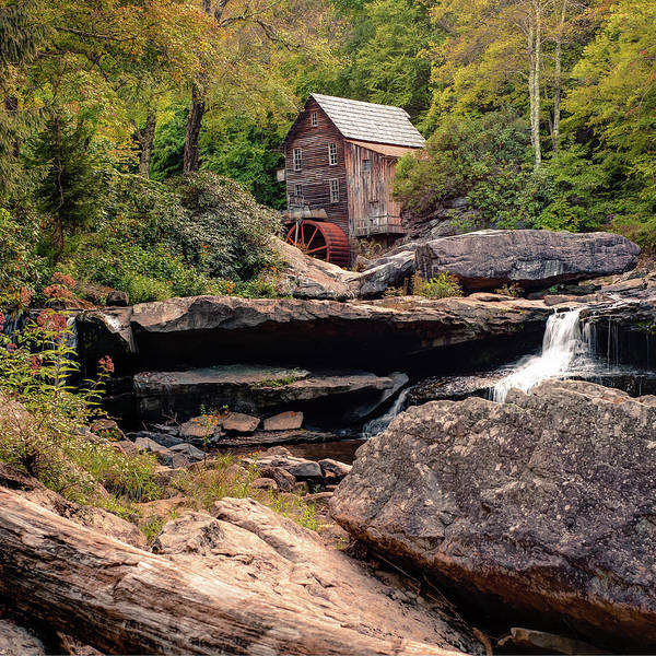 Photograph - Glade Creek Mill In Fall - Square Format by Gregory Ballos