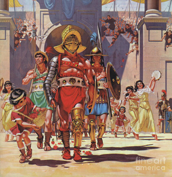 Wall Art - Painting - Gladiator Walking Into The Arena by Angus McBride