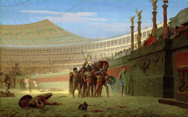 Wall Art - Painting - Ave Caesar, Morituri Te Salutant  - Digital Remastered Edition by Jean-Leon Gerome