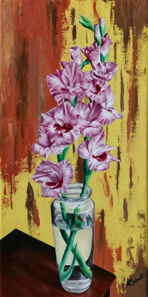 Painting - Gladiolas - Painting by Ashley Koebrick Schmidt