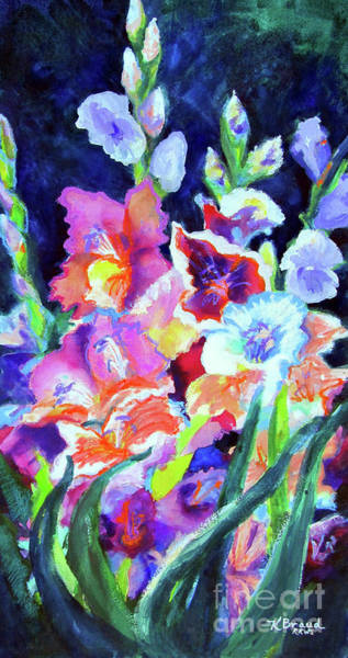 Wall Art - Painting - Gladiolus 3 by Kathy Braud