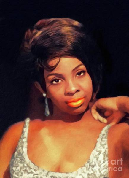 Wall Art - Painting - Gladys Knight, Music Legend by John Springfield