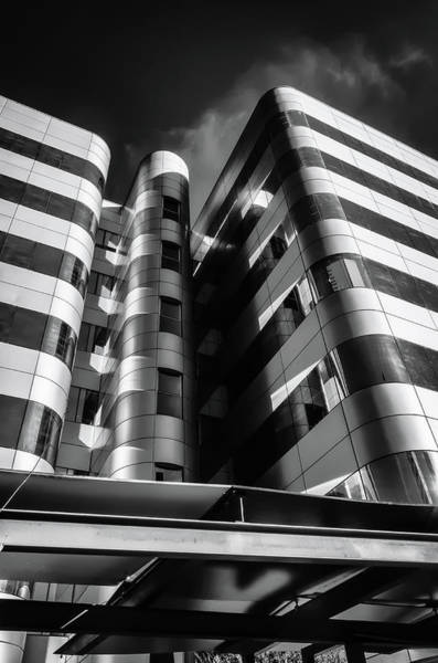 Photograph - Glass And Steel II Bnw by Borja Robles
