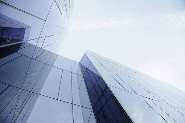 Horizontal Photograph - Glass And Steel Office Building by Crossbrain66