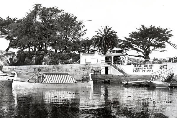 Swan Boats Photograph - Glass Botton Boat By Pier Lovers Point,  P. G. 1972 by California Views Archives Mr Pat Hathaway Archives