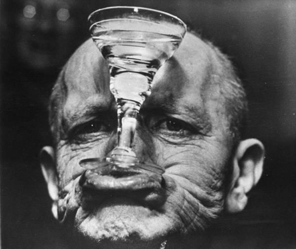 Human Face Photograph - Glass Holder by D. De Boer