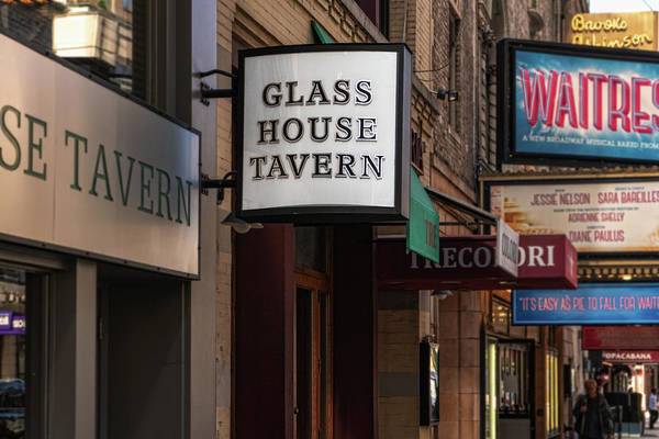 Photograph - Glass House Tavern Sign by Sharon Popek