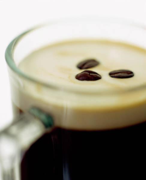 Mug Photograph - Glass Mug Of Irish Coffee by Rob Lawson