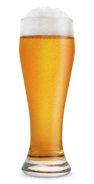 Beer Photograph - Glass Of Light Beer by Julichka