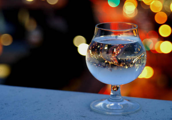 Photograph - Glass Of Water Overlooking Vienna by Jonny Jelinek