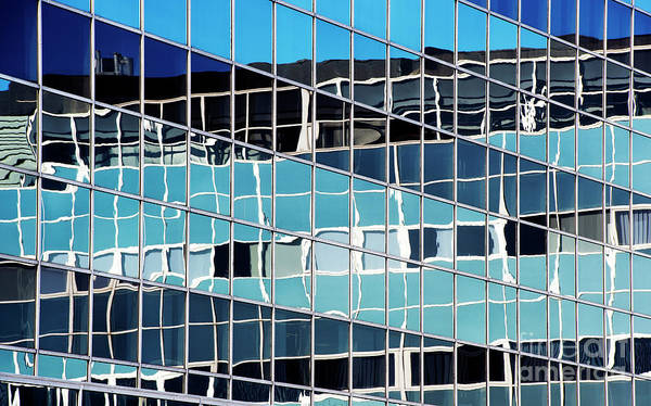 Window Pane Photograph - Glass Steel Reflections by Tim Gainey