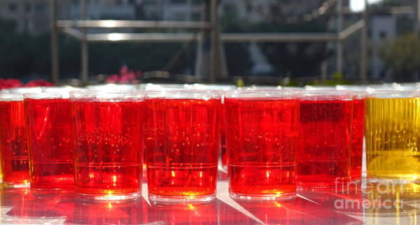 Wall Art - Photograph - Glasses Filled With Red Liquid by Yali Shi