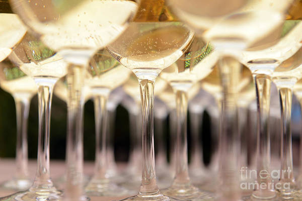 Event Wall Art - Photograph - Glasses With Wine On Table - Party by Kaband