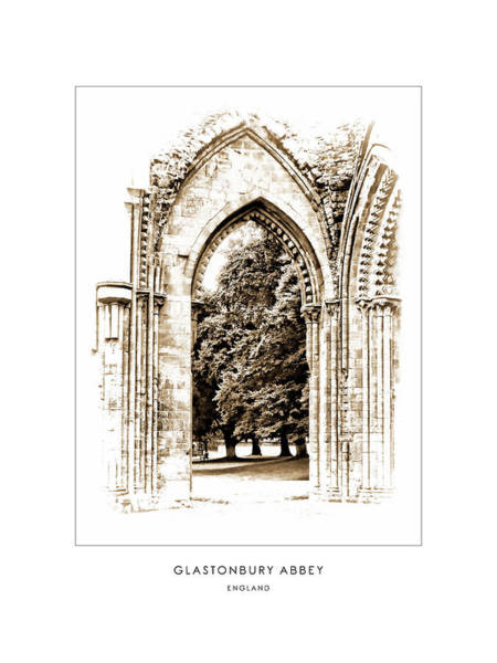 Photograph - Glastonbury Abbey - England - Travel Poster by Menega Sabidussi