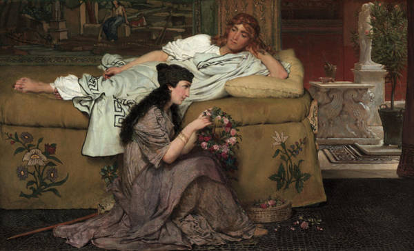 Wall Art - Painting - Glaucus And Nydia by Lawrence Alma-Tadema