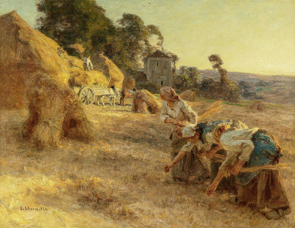 Wall Art - Painting - Gleaners by Leon-Augustin Lhermitte