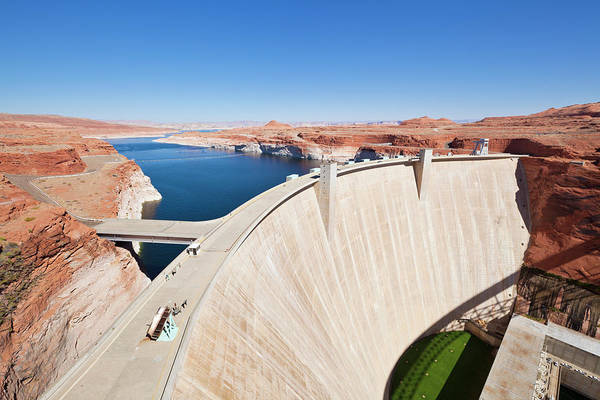 Wall Art - Photograph - Glen Canyon Dam, Lake Powell, Page by Neale Clark / Robertharding