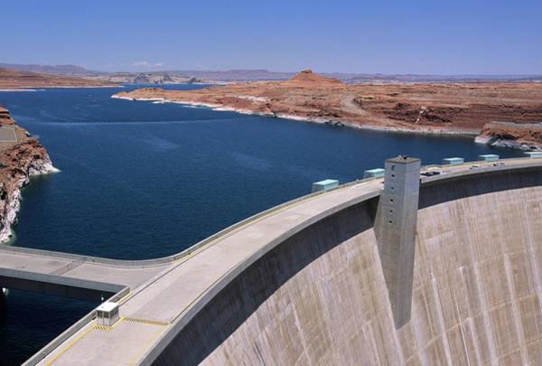 Wall Art - Photograph - Glen Canyon Dam On Lake Powell by Roberto Soncin Gerometta