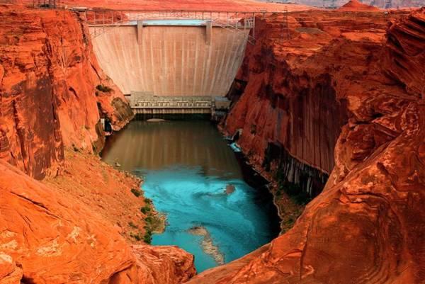 Wall Art - Photograph - Glen Canyon Dam, Page, Arizona by Myloupe/uig
