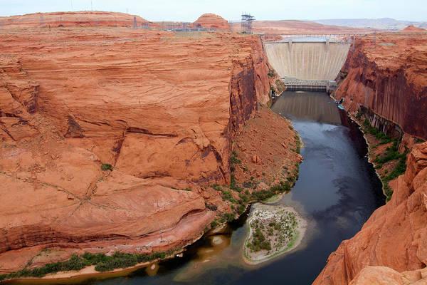Wall Art - Photograph - Glen Canyon Dam, Page, Arizona, Usa by Gaston Piccinetti