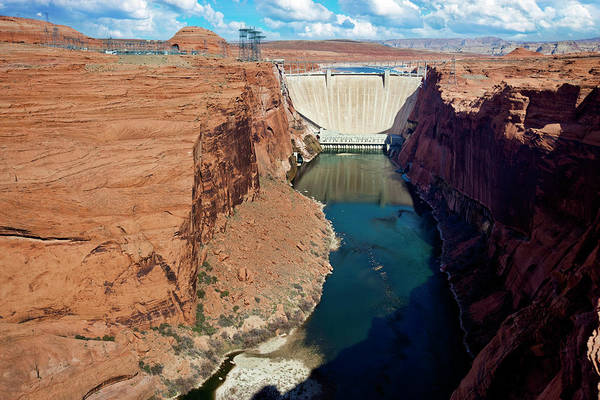 Wall Art - Photograph - Glen Canyon Dam by Redhumv