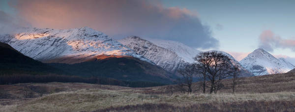 Moor Photograph - Glen Etive Mountain Light by Paul Whiting
