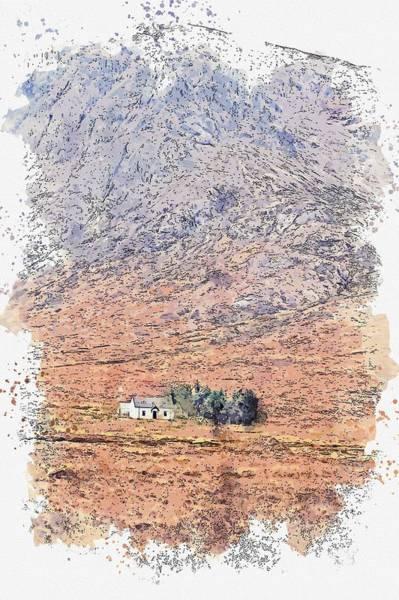 Painting - Glencoe, Scotland -  Watercolor By Adam Asar by Adam Asar