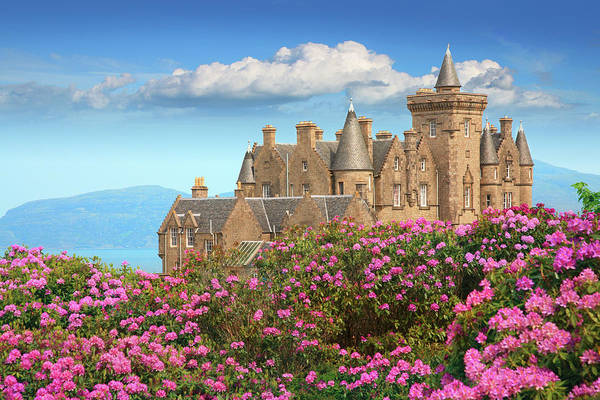 Blossom Photograph - Glengorm Castle On The Isle Of Mull by Kathy Collins
