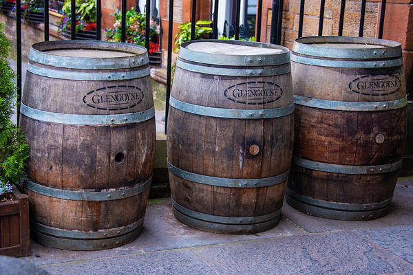 Photograph - Glengoyne Whiskey Barrels by Bill Cannon