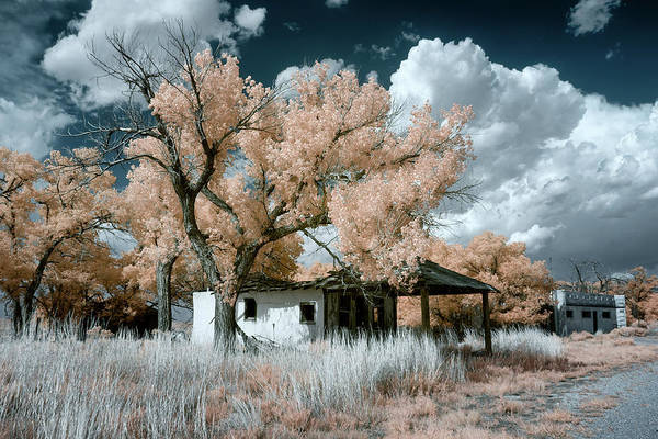 Ghosttown Photograph - Glenrio Gas Station Infrared by James Barber