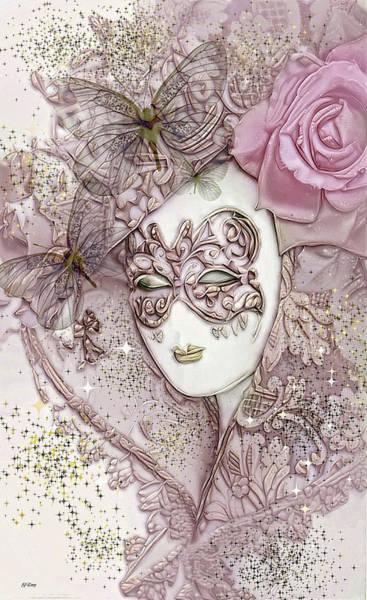 Joyous Mixed Media - Glitter Masquerade 02 by G Berry