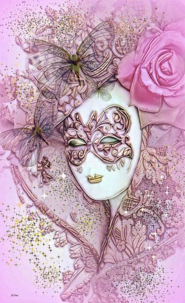 Joyous Mixed Media - Glitter Masquerade by G Berry