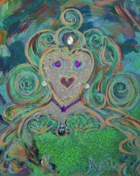 Wall Art - Painting - Glitter Queen by Ann Lutz