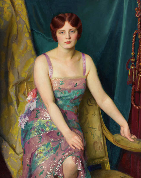 Beauty Wall Art - Painting - Glitter by William McGregor Paxton