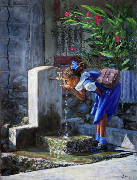 Saint Lucia Painting - Glo #2 by Jonathan Guy-Gladding JAG