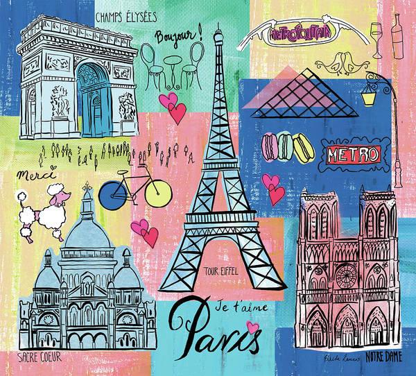 Wall Art - Painting - Global Travel II by Farida Zaman