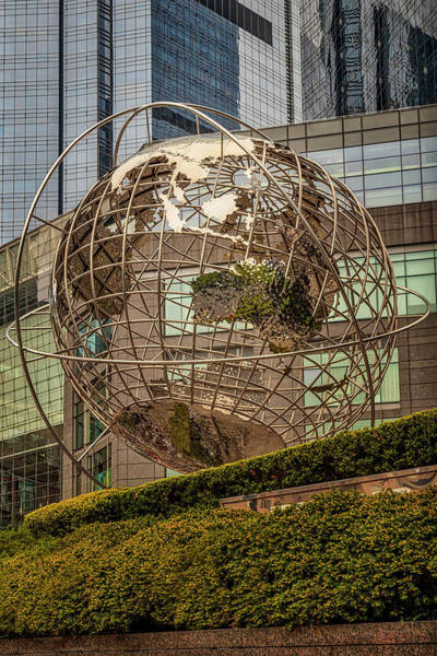 Photograph - Globe Sculpture At Columbus Circle by Susan Candelario