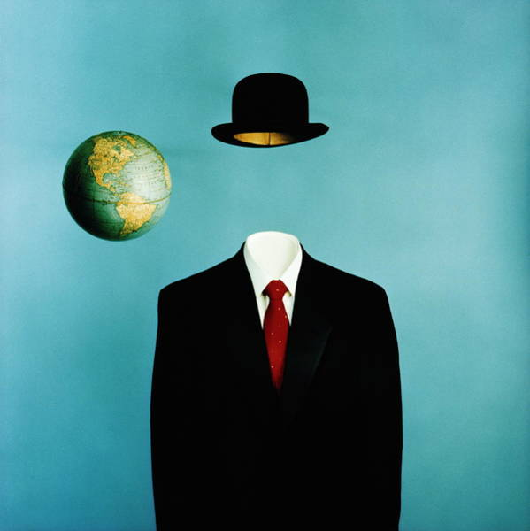 Suit Photograph - Globe, Top Hat And Mans Business Suit by Ken Whitmore