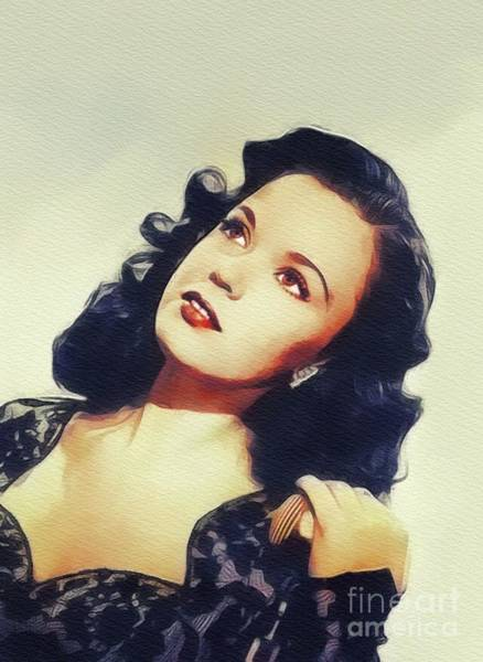 Wall Art - Painting - Gloria Jean, Vintage Actress by John Springfield