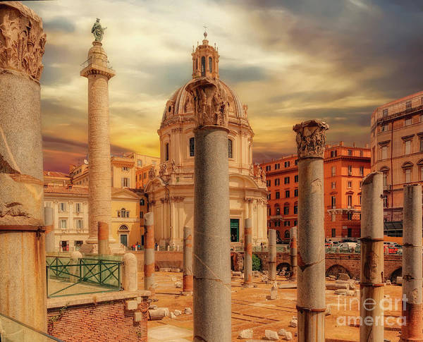 Wall Art - Photograph - Glories Past And Present,  Rome by Leigh Kemp